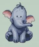 схема вышивки слоненок