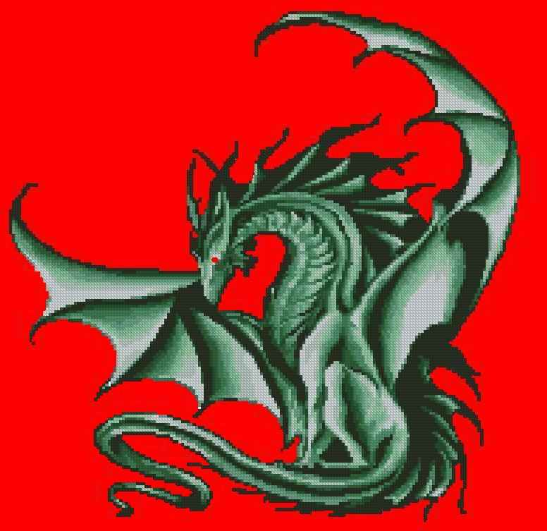 схема дракон крестом.