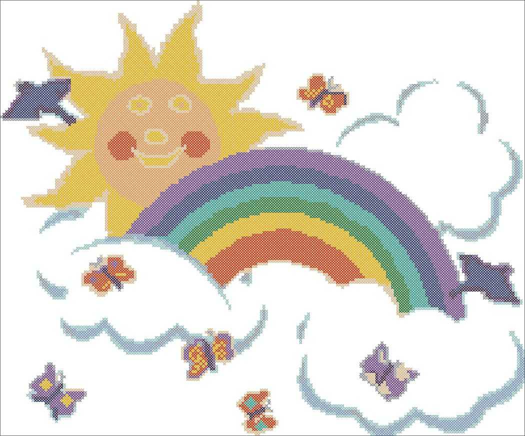 Вышивка крестиком радуга