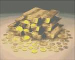 Золото и монеты. Схема вышивки