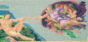 Сикстинская капелла в вышивке крестом