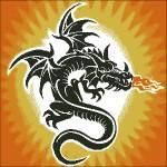 Черный Дракон. Схема вышивки