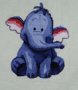 Слон вышивка