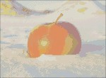 Яблоко на снегу. Схема вышивки