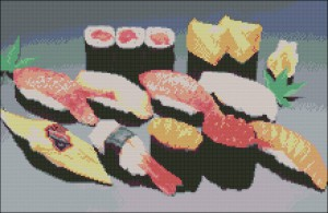 Суши. Схема вышивки