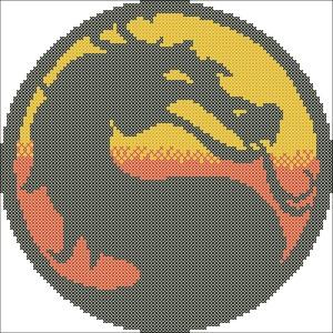 Mortal Kombat схема вышивки
