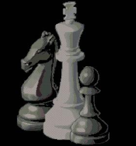 Шахматы. Схема вышивки