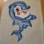 Схема вышивки Дельфин. Отшив картины.