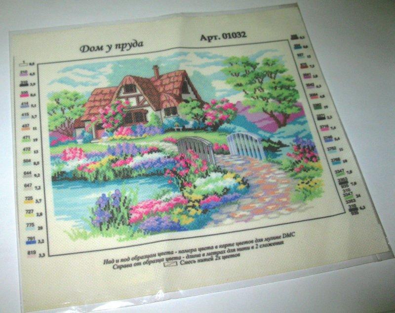 Вышивка по готовой канве с рисунком