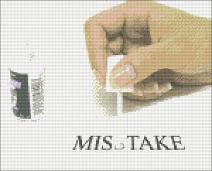 Ошибки при вышивке