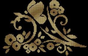 Узор 1. Схема вышивки