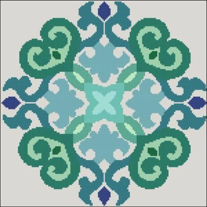 Узор 3 На волне схема вышивки