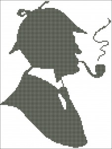 Шерлок Холмс. Схема вышивки