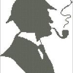 Новая схема вышивки «Шерлок Холмс»