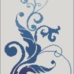 Новая схема вышивки «Синий расцвет»