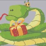 Новая схема вышивки «Змея новогодняя». Готовимся к Новому 2013 Году!