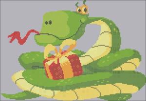 змея новогодняя