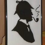 Шерлок Холмс. Вышитая картина.