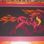Вышитая картина «Ночная кобыла» — теперь оформлена!